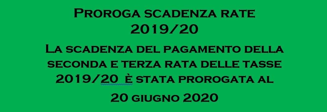 Proroga scadenza tasse 2019/20